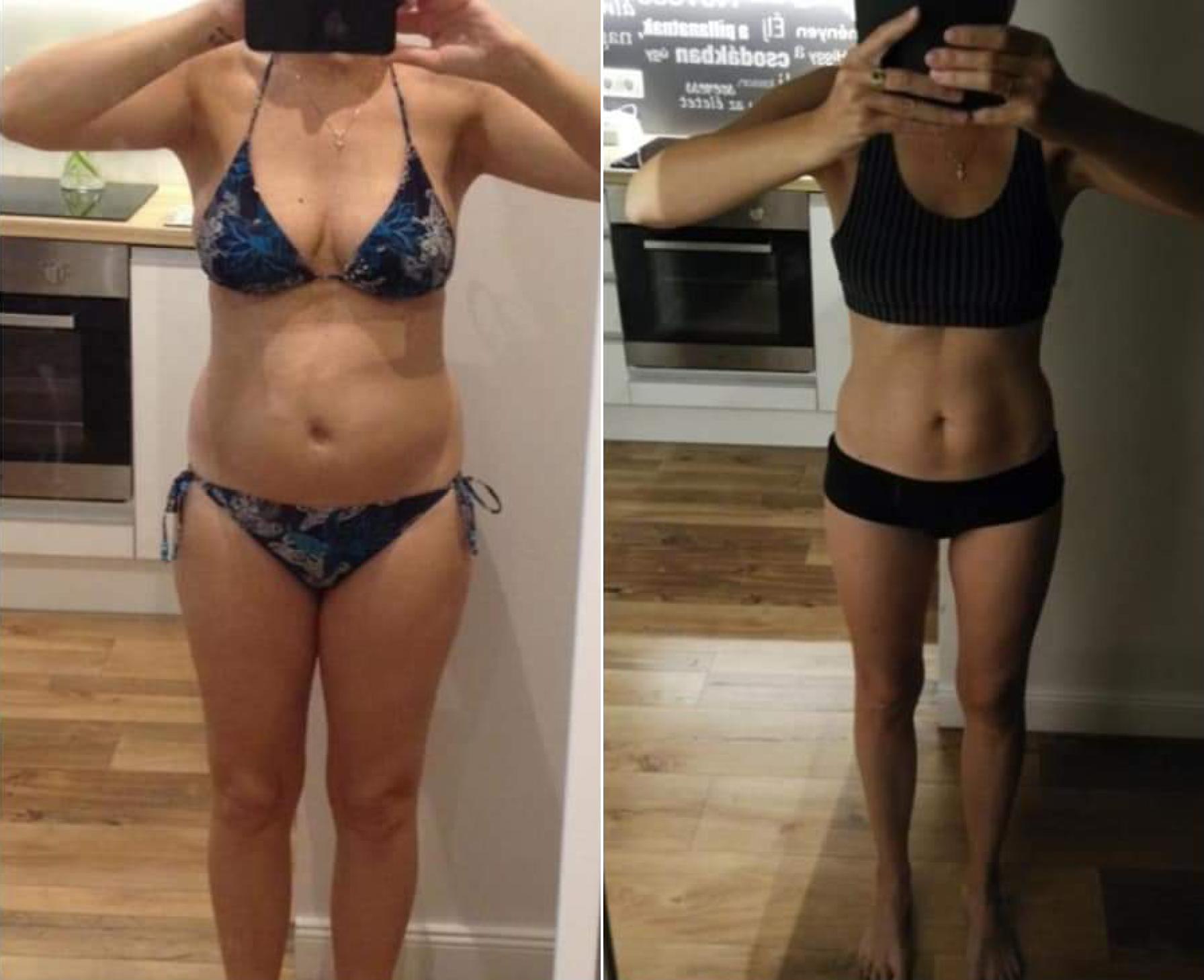 elképesztő súlycsökkenési átalakulások előtte és utána